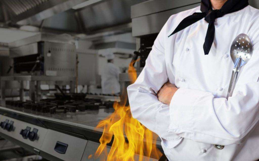 Commercial kitchens are vulnerable to fire accidents.