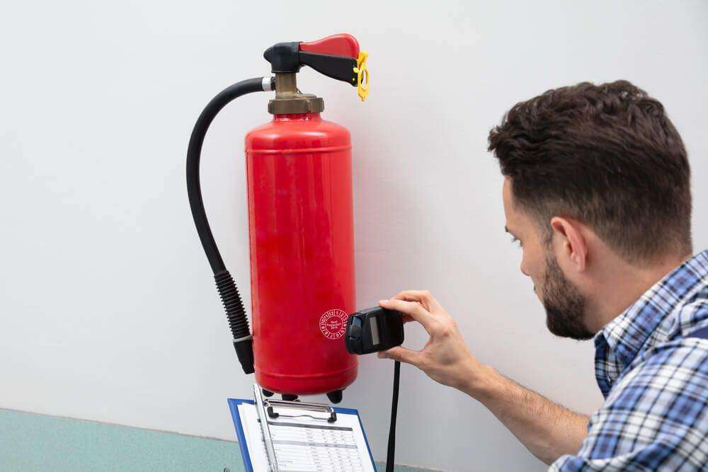 Professional inspection of a fire extinguisher and other fire safety equipment is necessary.