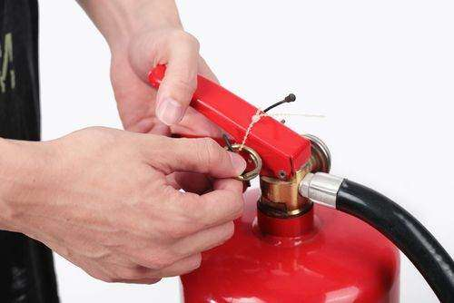 A fire extinguisher inspection will ensure that the device is in good condition.